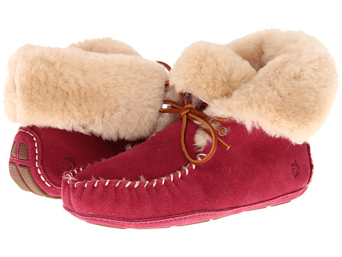 Acorn - Sheepskin Moxie Boot (Raspberry) Women
