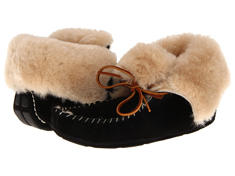 Acorn - Sheepskin Moxie Boot (Black) Women's Boots