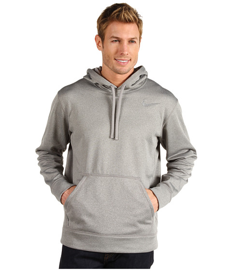 Nike - KO Hoodie 2.0 (Dark Grey Heather/Medium Grey/Medium Grey) Men