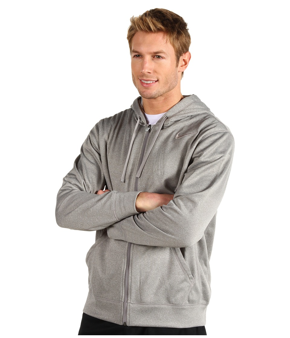 Nike - KO Full-Zip Hoodie 2.0 (Dark Grey Heather/Medium Grey/Medium Grey) Men's Sweatshirt
