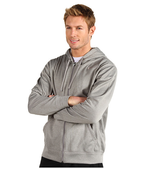 Nike - KO Full-Zip Hoodie 2.0 (Dark Grey Heather/Medium Grey/Medium Grey) Men