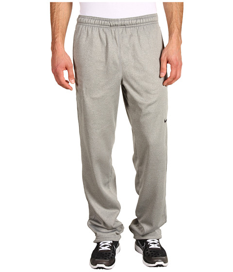 Nike - KO Polyester Fleece Pant (Dark Grey Heather/Black) Men