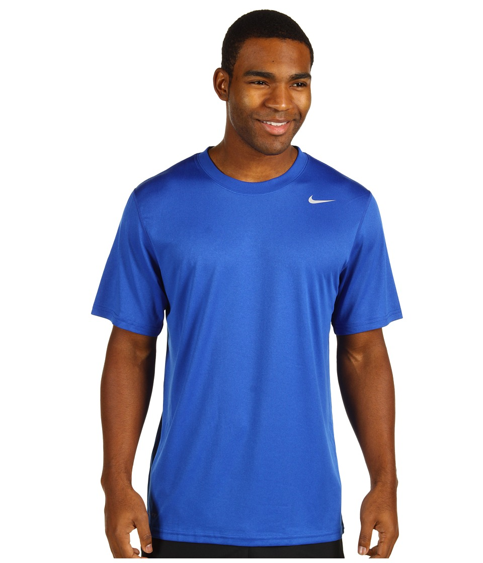 Nike - Legend Dri-FIT Poly S/S Crew Top (Game Royal/Carbon Heather/Medium Grey) Men's Short Sleeve Pullover