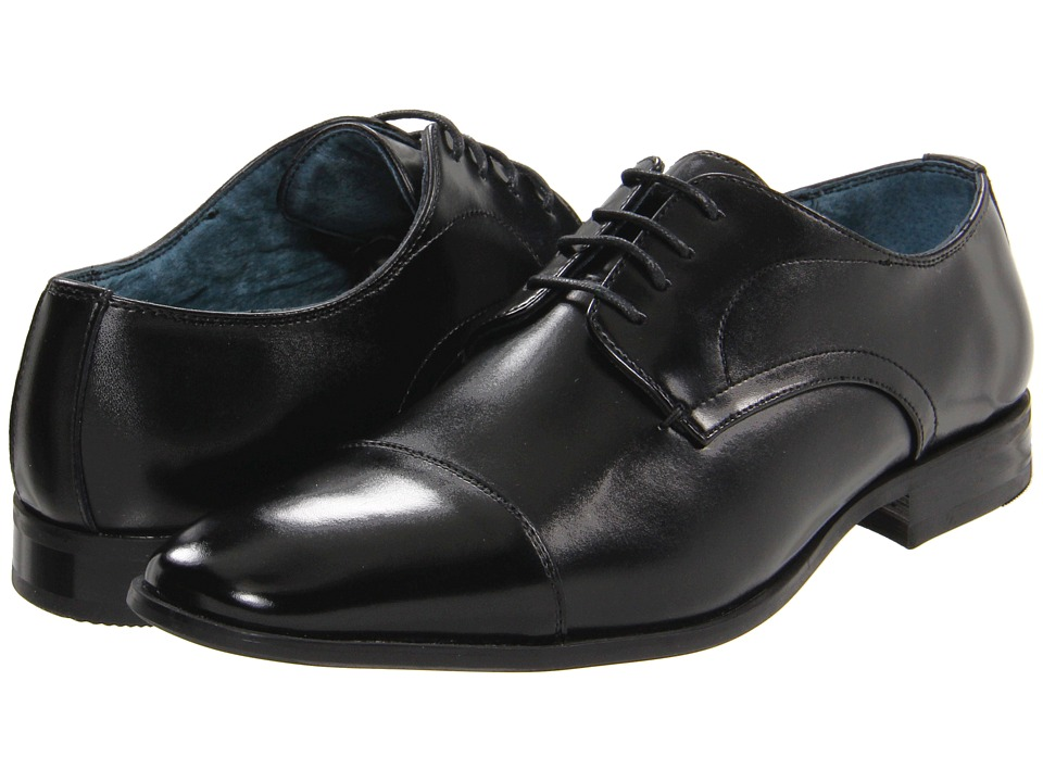 Giorgio Brutini - 17564 (Black) Men's Lace Up Cap Toe Shoes