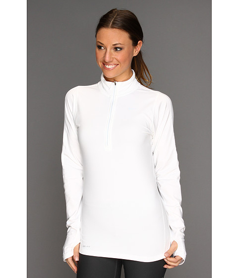 Nike - Element Half-Zip (White/White/Reflective Silver) Women's Long Sleeve Pullover