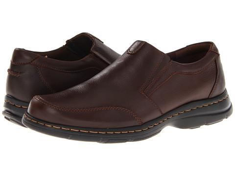 Dunham - Bradford Twin Gore Slip On (Brown Pebble) Men's Slip on Shoes