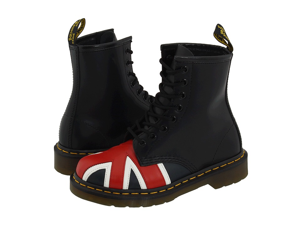 Dr. Martens - 1460 (Black Smooth/Union Jack) Lace-up Boots