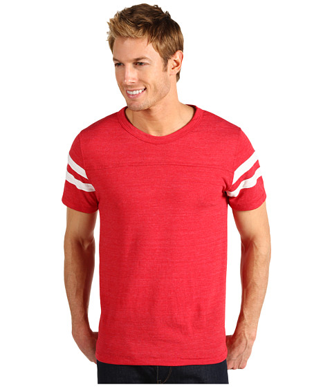 Alternative - Eco Football Tee (Eco True Red/Eco Ivory) Men