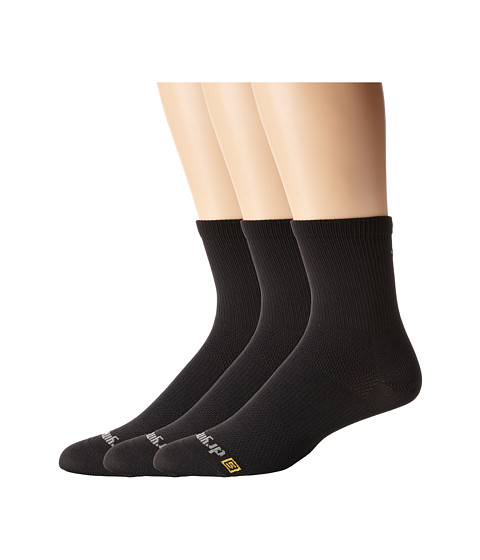Drymax Sport - Cycling Crew 3-Pair Pack (Black) Crew Cut Socks Shoes