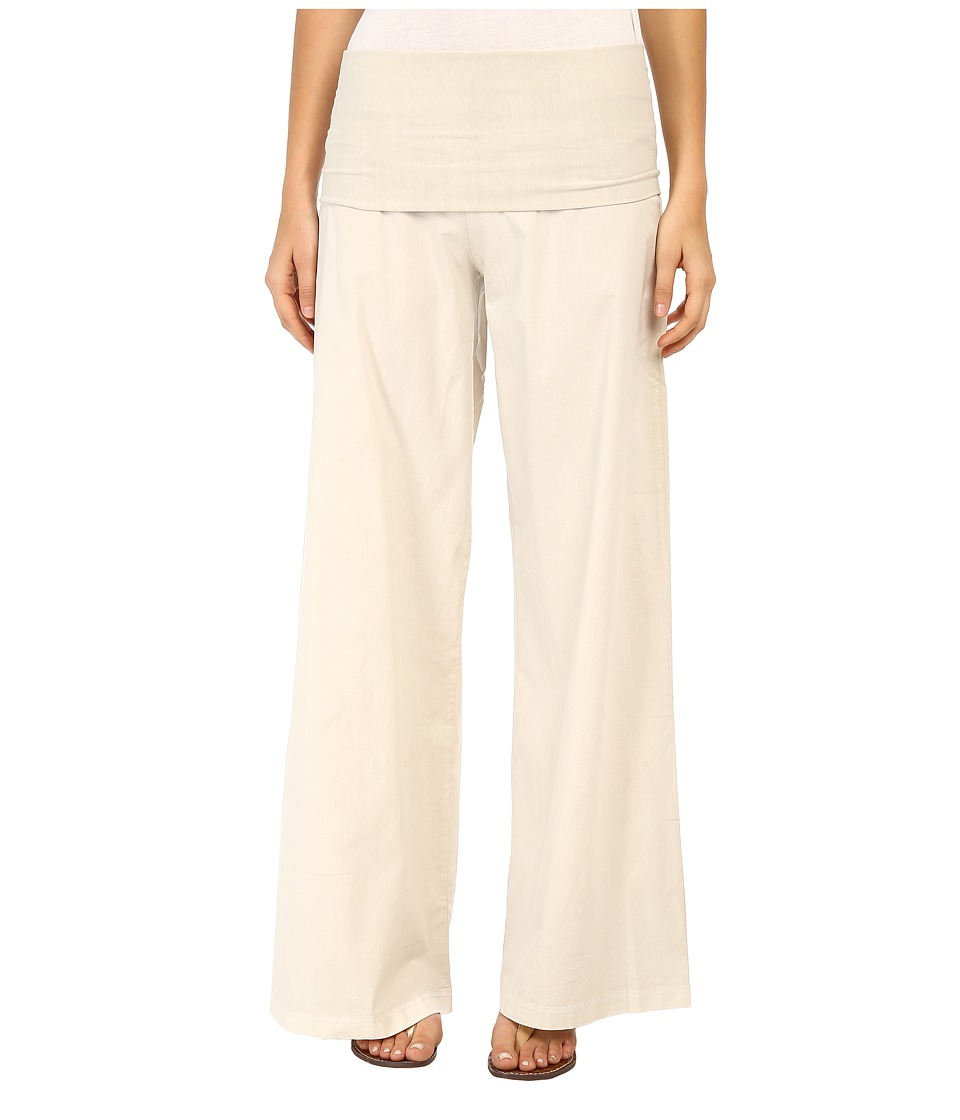XCVI - Fold-Over Palazzo (Chalk) Women's Casual Pants