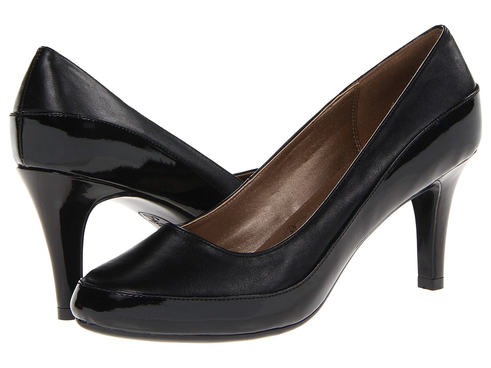 Soft Style - Cristina (Black Vitello/Patent) High Heels