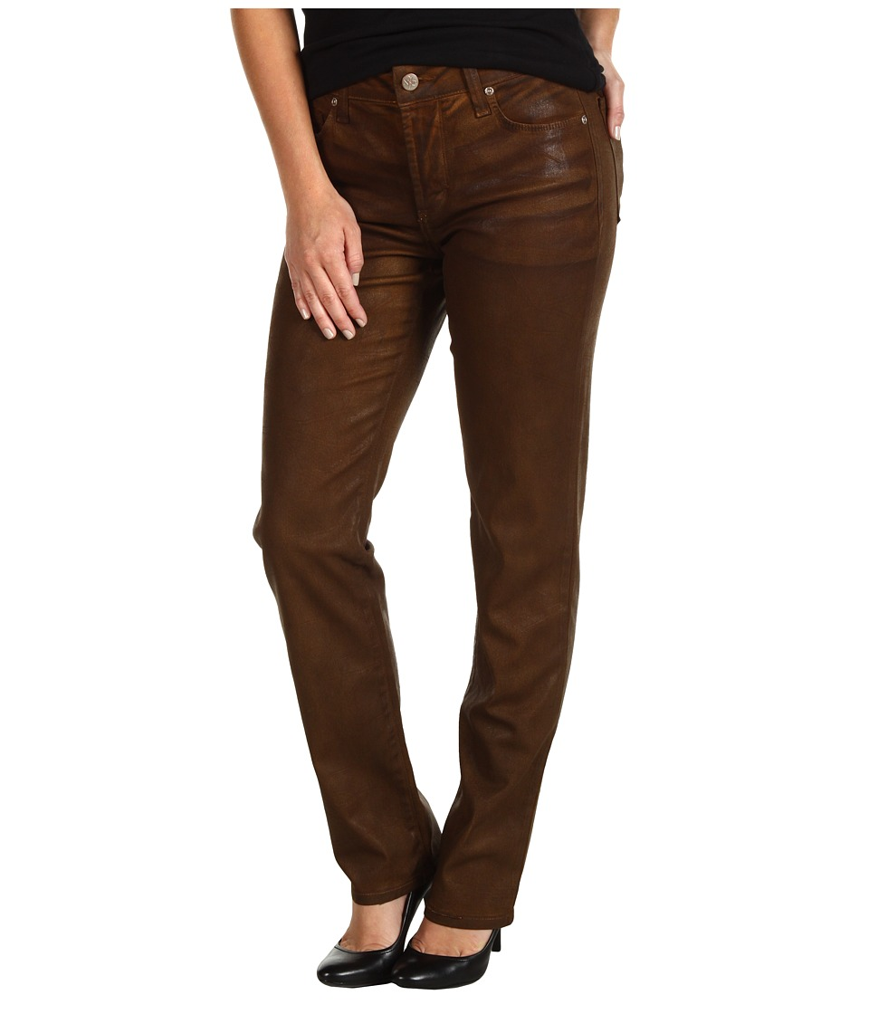 NYDJ Petite - Petite Sheri Skinny in Terra Tan Coated Denim (Terra Tan) Women