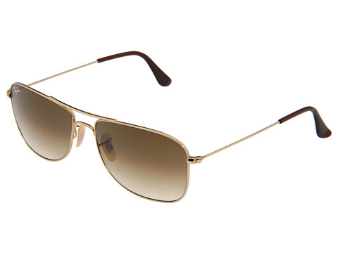 Ray-Ban - RB3477 (Gold Frame/Brown Gradient Lens) Metal Frame Fashion Sunglasses