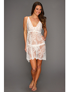 SALE! $76.99 - Save $49 on Hanky Panky Victoria Lace Chemise w G String (Light Ivory) Apparel - 38.90% OFF $126.00
