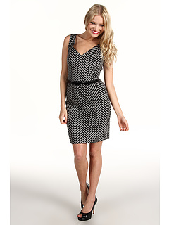 SALE! $69.99 - Save $208 on Trina Turk Frock Zig Zag Ponte Dress (Charcoal) Apparel - 74.82% OFF $278.00