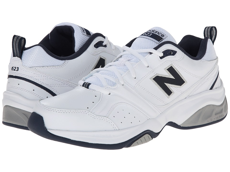 New Balance - MX623v2 (White/Navy) Men
