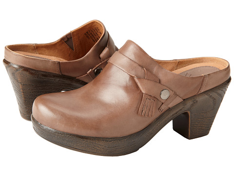 Klogs - Angie (Taupe Leather) Women's Clog Shoes
