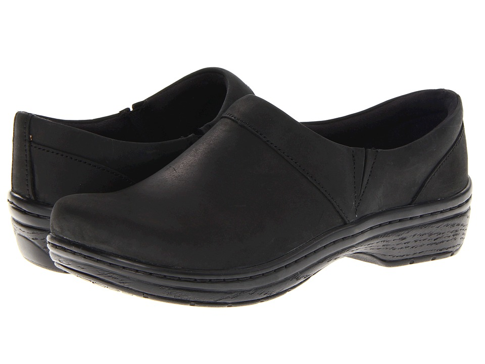 Klogs Footwear - Mission (Black Oil Leather) Women's Clog Shoes
