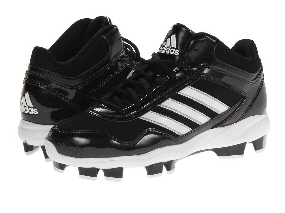 adidas - Excelsior Pro TPU Mid (Black/Running White/Metallic Silver) Men's Cleated Shoes