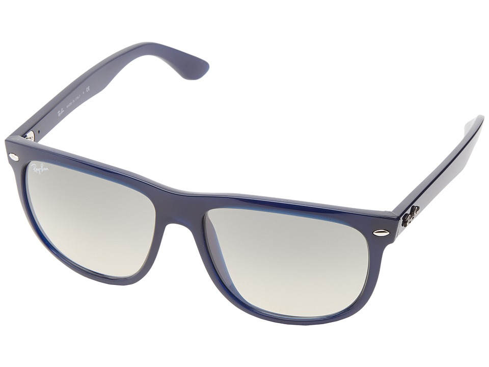 Ray-Ban - RB4147 Boyfriend (Dark Blue Frame/Gray Gradient Lens) Fashion Sunglasses