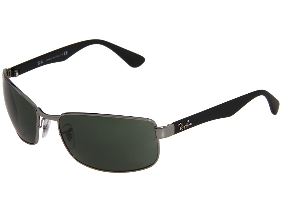 Ray-Ban - RB3478 (Gunmetal Frame/Green Lens) Fashion Sunglasses