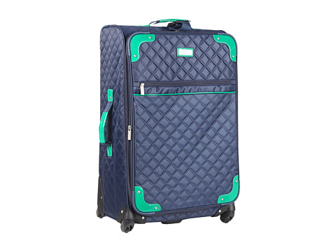 Beverly Hills Country Club - Beverly Hills Country Club 29 Quilted Expandable Spinner Upright (Navy/Green) Luggage