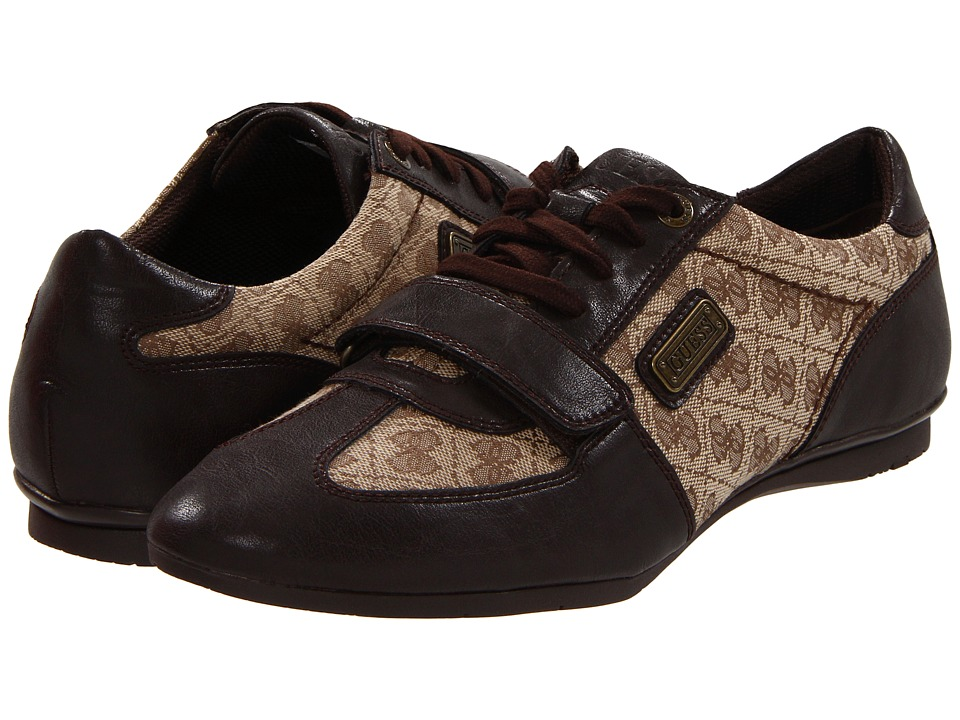 GUESS - Actine 2 (Brown) Men's Lace Up Wing Tip Shoes