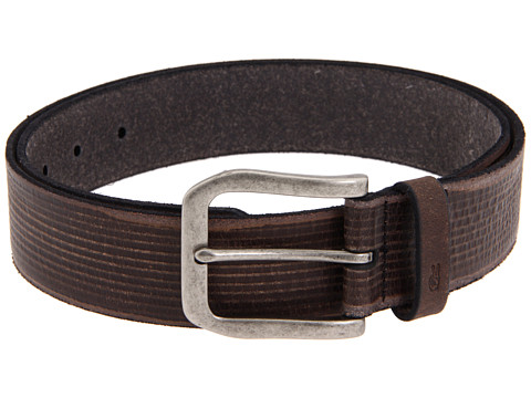 John Varvatos - 39mm Embossed Strap (Black/Nickel) Men's Belts