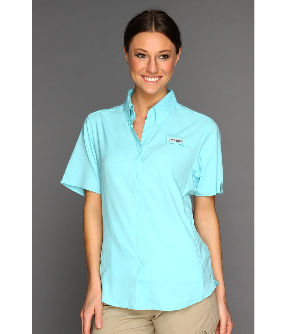 Columbia - Tamiami II S/S (Clear Blue) Women's Short Sleeve Button Up
