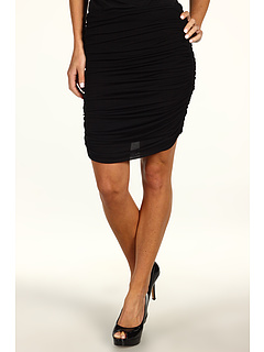 SALE! $74.99 - Save $170 on Halston Heritage Ruched Chiffon Jersey Skirt (Black) Apparel - 69.39% OFF $245.00