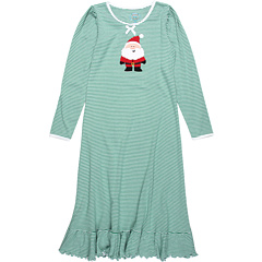 SALE! $16.99 - Save $26 on Sara`s Prints Kids Puffed Sleeve Nightgown (Toddler Little Kids Big Kids) (Green and White Mini Stripe) Apparel - 60.49% OFF $43.00