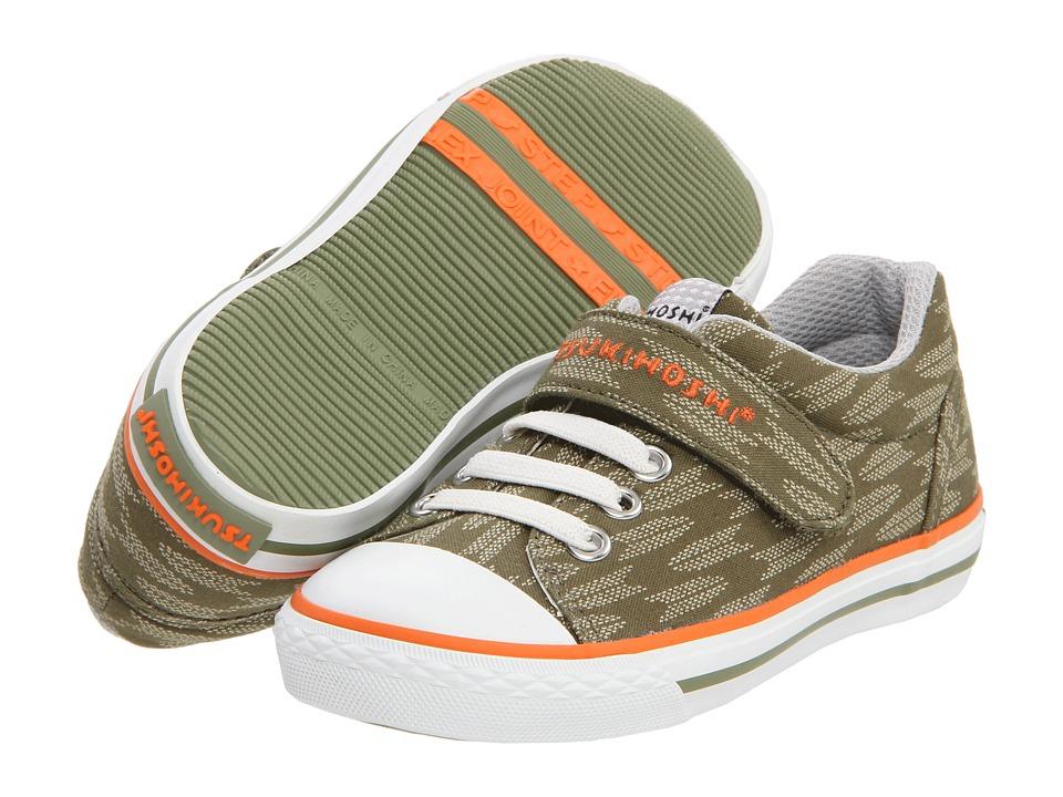 Tsukihoshi Kids Hachi Boys Shoes (Olive)