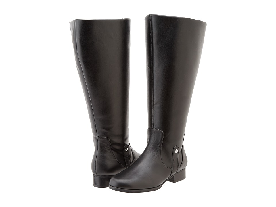 Fitzwell - Temecula Extra Wide Calf Boot (Black) Women's Dress Zip Boots
