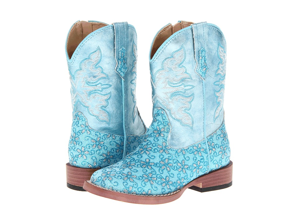 Roper Kids - Bling Glitter (Toddler) (Blue) Cowboy Boots
