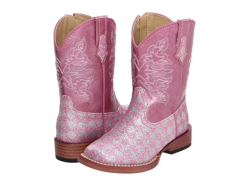 Roper Kids - Bling Glitter (Toddler) (Pink) Cowboy Boots