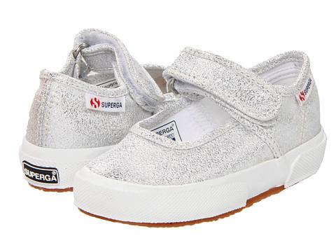 Superga Kids - 2769 LameJ (Toddler/Little Kid) (Silver) Girls Shoes