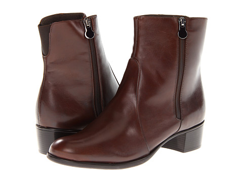 Munro American - Linda (Brown Leather) Women's Zip Boots