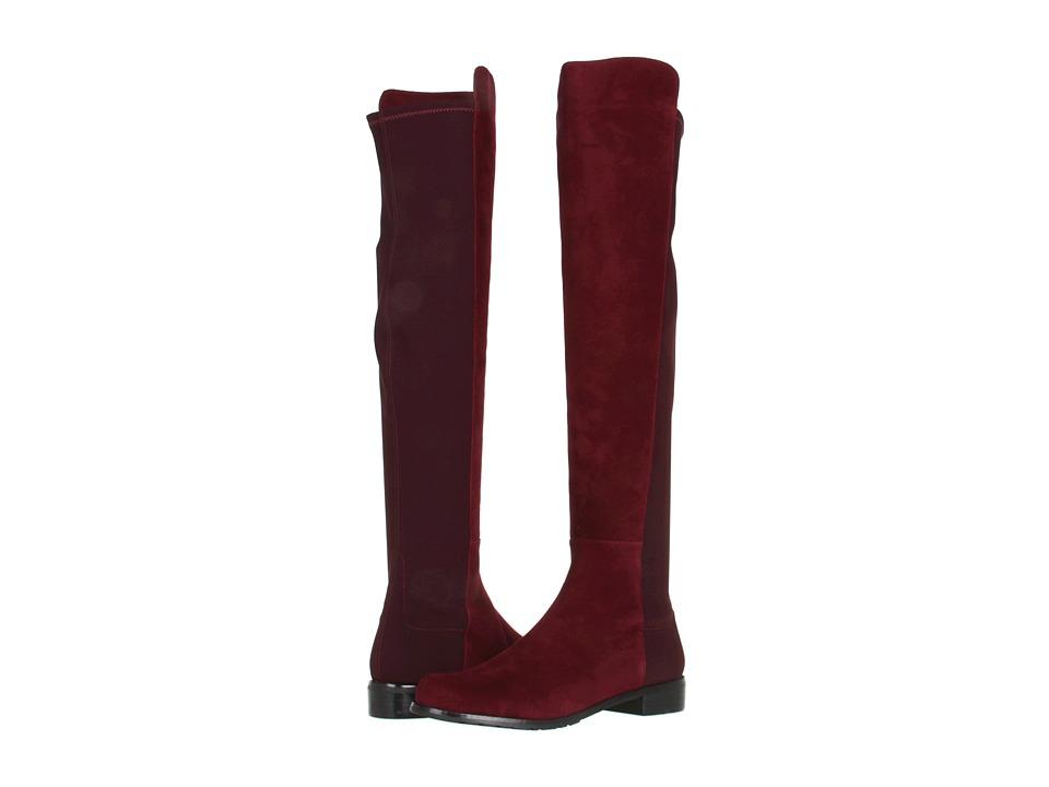 Stuart Weitzman - 5050 (Bordeaux Suede) Women's Pull-on Boots