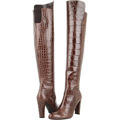 Stuart Weitzman Vigor (Espresso Guinea Croco) Footwear
