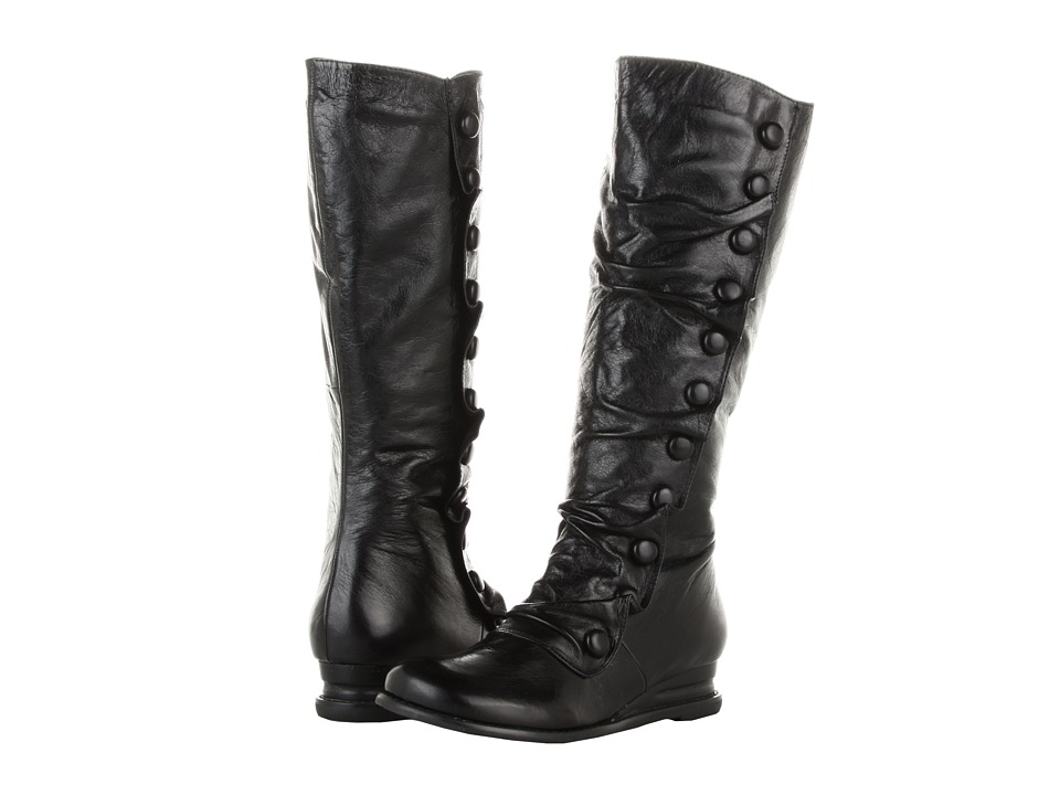 Miz Mooz - Bloom Wide Calf (Black) Women's Zip Boots