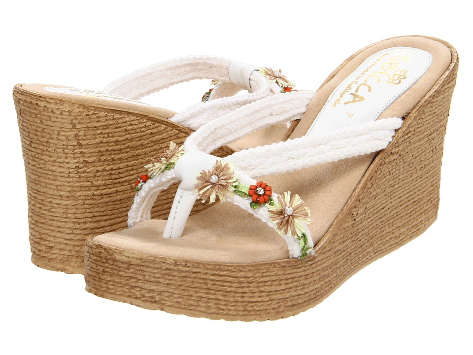 Sbicca - Vine (White) Women's Wedge Shoes