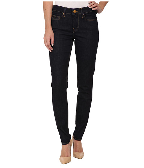 True Religion - Halle Mid Rise Jean in Body Rinse (Body Rinse) Women