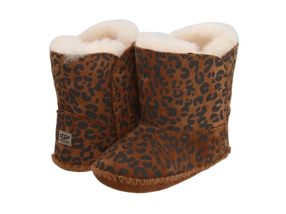 UGG Kids - Cassie Leopard (Infant/Toddler) (Chestnut Leopard) Girls Shoes