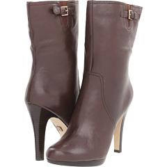 Anne Klein Lionna (Dark Brown Leather) Footwear