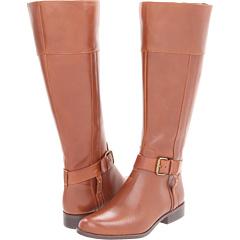 Anne Klein Cailan Wide Calf (Cognac Leather) Footwear