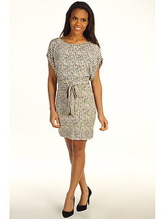 SALE! $33 - Save $132 on Three Dots Wide Neck Drop Sleeve Dress (Black Mosaic) Apparel - 80.00% OFF $165.00