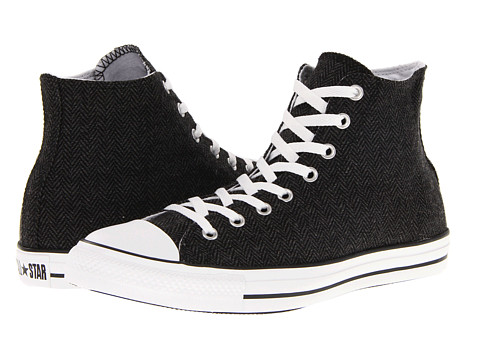 Converse - Chuck Taylor All Star Hi Winter Weight Material (Black/Black) Lace up casual Shoes