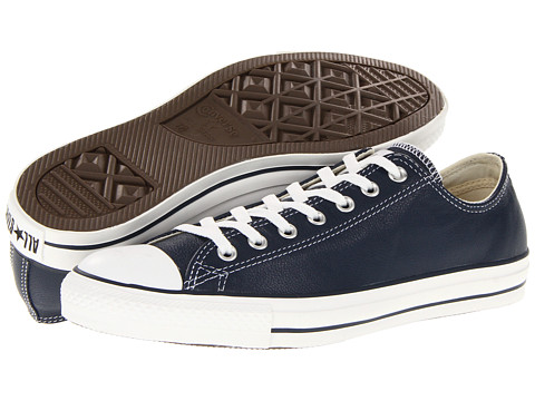 Converse - Chuck Taylor All Star Leather Ox (Athletic Navy Leather) Shoes