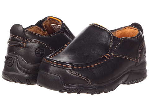 Timberland Kids - Carlsbad Slip-On Core (Toddler/Little Kid) (Black Smooth Leather) Boys Shoes