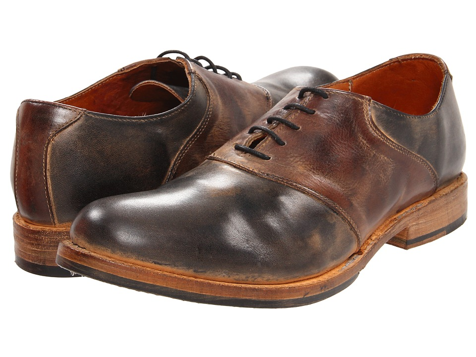Bed Stu - Edison (Black/Teak) Men's Shoes